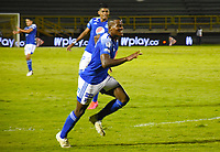 TUNJA - COLOMBIA, 4-12-202.David Silva de Millonarios  celebra gol a Patriotas Boyacá ./ David Silva player of Millonarios celebrates after scoring a goal agaisnt of Patriotas Boyaca during the 2st date for the BetPlay DIMAYOR Liguilla 2020 played at La Independencia  Stadium in Tunja. / Photos: VizzorImage / Edward Leguizamón / Contribuidor