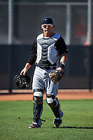 Chicago White Sox catcher Jacob Cooper (22) during an Instructional League game against the Cincinnati Reds on October 11, 2016 at the Cincinnati Reds Player Development Complex in Goodyear, Arizona.  (Mike Janes/Four Seam Images)