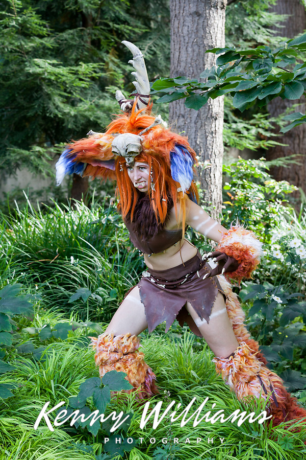 Gnar of League of Legends cosplay by Miss Morgan, Pax Prime 2015, Seattle, Washington State, WA, America, USA.
