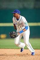 Hartford Yard Goats first baseman Correlle Prime (27) during the first game of a doubleheader against the Trenton Thunder on June 1, 2016 at Sen. Thomas J. Dodd Memorial Stadium in Norwich, Connecticut.  Trenton defeated Hartford 4-2.  (Mike Janes/Four Seam Images)