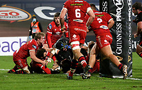 Sunday 22nd November 2020 | Ulster vs Scarlets<br /> <br /> Sean Reidy scores Ulster's third try during the Guinness PRO14 Round 7 clash between Ulster Rugby and Scarlets at Kingspan Stadium, Ravenhill Park, Belfast, Northern Ireland. Photo by John Dickson / Dicksondigital