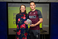 Pictured: Connor Roberts of Swansea City during the Swans Community Trust awards dinner at the liberty stadium in Swansea, Wales, UK <br /> Thursday 02 April 2019