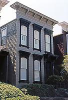 San Francisco: Row House, Clay St., c. 1875.  Photo '78.