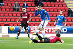 St Johnstone v St Mirren…27.10.18…   McDiarmid Park    SPFL<br />Tony Watt puts his shot wide of the post<br />Picture by Graeme Hart. <br />Copyright Perthshire Picture Agency<br />Tel: 01738 623350  Mobile: 07990 594431