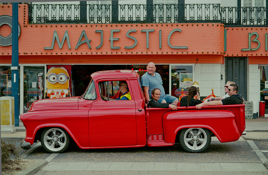 A classic and modified car enthusiasts event in Great Yarmouth, Norfolk, UK