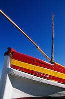 Europe/France/Languedoc-Roussillon/66/Pyrénées-Orientales/Banyuls-sur-Mer: barque catalane sur le port