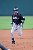 Outfielder Mason Williams (97) of the New York Yankees during a spring training game against the Pittsburgh Pirates on February 26, 2014 at McKechnie Field in Bradenton, Florida.  Pittsburgh defeated New York 6-5.  (Mike Janes/Four Seam Images)
