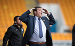 St Johnstone v Partick Thistle…29.10.16..  McDiarmid Park   SPFL<br />Tommy Wright goes nuts<br />Picture by Graeme Hart.<br />Copyright Perthshire Picture Agency<br />Tel: 01738 623350  Mobile: 07990 594431