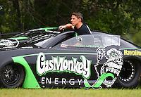 Aug 20, 2016; Brainerd, MN, USA; NHRA pro stock driver Alex Laughlin during qualifying for the Lucas Oil Nationals at Brainerd International Raceway. Mandatory Credit: Mark J. Rebilas-USA TODAY Sports