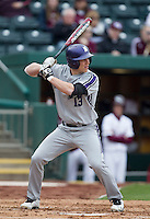 Colby Everett (13) of the Northwestern Wildcats bats during a game against the Missouri State Bears at Hammons Field on March 8, 2013 in Springfield, Missouri. (David Welker/Four Seam Images)