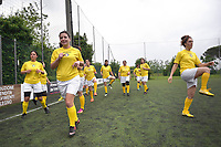 """The women's soccer team of Vatican City. 26 may 2019<br /> <br /> Women's football arrives at the Vatican, with what can be considered in all respects the women's national football team of the Holy See. The Vatican representative, announced in recent weeks, made its debut yesterday afternoon, Sunday 26 May, in the sports center of the Knights of Columbus, against the Roma women's team of Roma.<br /> The girls that make up the team are all Vatican employees or wife and daughters of staff of the Holy See, plus some players from the Bambino Gesù hospital team who joined for this 11-a-side football match. «We are born in an amateur way - he tells the attacker and captain of the Vatican Eugene Tcheugoue - and playing together represents for us above all a way to get to know and be together ».<br /> <br /> The young soccer player, a graduate in theology and a native of Cameroon, has no doubts about the great important symbolism of the team: """"Many of us are mothers even before they are employees or at least daughters and wives, so in the first place for us is the metaphor of football as a gym of life. Sport in general - says Eugene Tcheugoue - conveys a fundamental message, both for the new generations and in particular for women """"."""