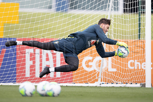 12th November 2020; Granja Comary, Teresopolis, Rio de Janeiro, Brazil; Qatar 2022 World Cup qualifiers; Ederson of Brazil during training session