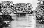 The tomb of Tu Duc Emperor in Hue, Vietnam.  <br /> To find out more click here; http://www.vietnamwiki.net/Hue-See-Hue039s_royal_tombs-P73