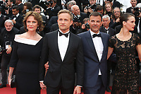 JACQUELINE BISSET, JEREMIE RENIER, DIRECTOR FRANCOIS OZON AND MARINE VACTH - RED CARPET OF THE FILM 'L'AMANT DOUBLE' AT THE 70TH FESTIVAL OF CANNES 2017