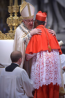 Cardinal Désiré Tsarahazana, Pope Francis leads a consistory for the creation of five new cardinals  at St Peter's basilica in Vatican on  June 28, 2018
