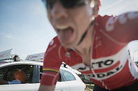 Marcel Sieberg (DEU/Lotto-Soudal) just before he would crash out of the race...<br />