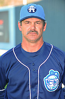 Joe Mikulik #20 Manager of the Asheville Tourists poses during media day at McCormick Field on April 4, 2011 in Asheville, North Carolina.  Photo by Tony Farlow / Four Seam Images..
