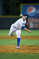 Burlington Royals relief pitcher Tyler Zuber (36) delivers a pitch to the plate against the Danville Braves at Burlington Athletic Stadium on August 12, 2017 in Burlington, North Carolina.  The Braves defeated the Royals 5-3.  (Brian Westerholt/Four Seam Images)