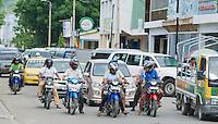 Traffic on a busy street in Dili, Timor-Leste (East Timor)