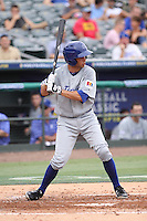 Ben Orloff of Team Israel at bat during a game against Team Spain during the World Baseball Classic preliminary round at Roger Dean Stadium on September 21, 2012 in Jupiter, Florida. Team Israel defeated Team Spain 4-2. (Stacy Jo Grant/Four Seam Images)