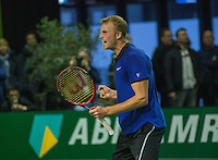 Rotterdam, Netherlands, 11 februari, 2017, ABNAMROWTT,  Final Supermatch, Glen Smit (NED) jubilates,