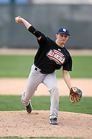 January 17, 2010:  Nick Richter (Plantsville, CT) of the Baseball Factory Northeast Team during the 2010 Under Armour Pre-Season All-America Tournament at Kino Sports Complex in Tucson, AZ.  Photo By Mike Janes/Four Seam Images