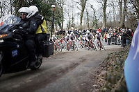 Team Trek-Segafredo taking the lead of the peloton towards the real finale of the race<br /> <br /> 78th Gent - Wevelgem in Flanders Fields (1.UWT)