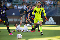 CARSON, CA - JUNE 19: Stefan Cleveland  #30 of the Seattle Sounders gets after a ball across the box during a game between Seattle Sounders FC and Los Angeles Galaxy at Dignity Health Sports Park on June 19, 2021 in Carson, California.