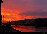Sunrise over the Arno Ponte alle Grazie Florence