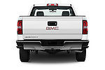 Straight rear view of 2017 GMC Sierra-1500 Regular-Cab 2 Door Pickup Rear View  stock images