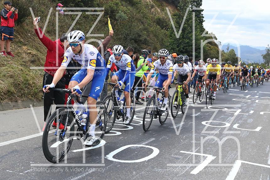 EL VERJON - COLOMBIA, 16-02-2020: El pelotón principal durante la sexta etapa del Tour Colombia 2.1 2020 con un recorrido de 182,6 km que se corrió entre Zipaquirá y El Once Verjón, Cundinamarca. / the main group of riders during the sixth stage of 182,6 km as part of Tour Colombia 2.1 2020 that ran between Zipaquira and El Once Verjon, Cundinamarca.  Photo: VizzorImage / Darlin Bejarano / Cont