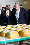 Soraya Sáenz de Santamaría, Vice-President and Minister of the Presidency and for the Territorial Administrations of the Government of Spain (l) and Pedro Ballve Lantero, President of Campofrío Group visit the new factory of Campofrio in Burgos. November 23, 2016.(ALTERPHOTOS/Acero)