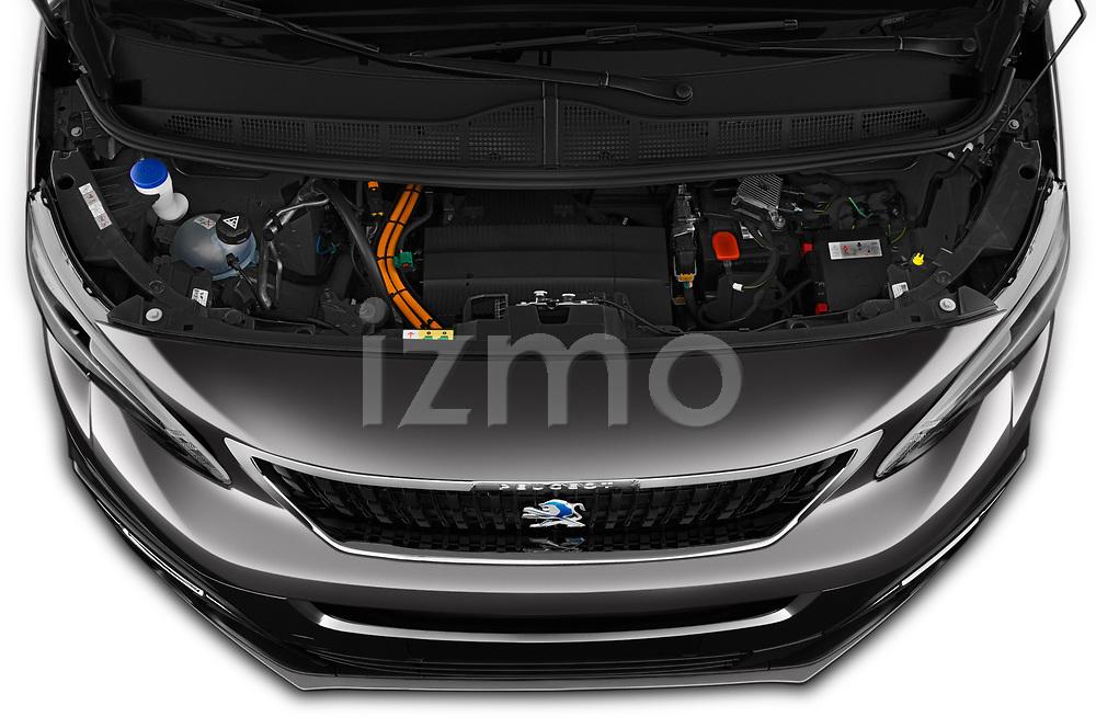 Car Stock 2020 Peugeot e-Expert FT-Premium 5 Door Cargo Van Engine  high angle detail view