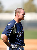 Brendan Katin - Milwaukee Brewers - 2009 spring training.Photo by:  Bill Mitchell/Four Seam Images