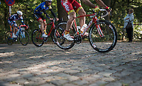 jumping the cobbles<br /> <br /> 83rd Nationale Sluitingsprijs Putte-Kapellen 2016 (UCI Europe Tour cat 1.1 / 189km)