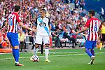 Atletico de Madrid's playes Yannick Carrasco and Koke Resurrección and Deportivo de la Coruña's player Faycal Fajr during a match of La Liga Santander at Vicente Calderon Stadium in Madrid. September 25, Spain. 2016. (ALTERPHOTOS/BorjaB.Hojas)