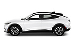 Car Driver side profile view of a 2021 Ford Mustang-Mach-E Premium 5 Door SUV Side View