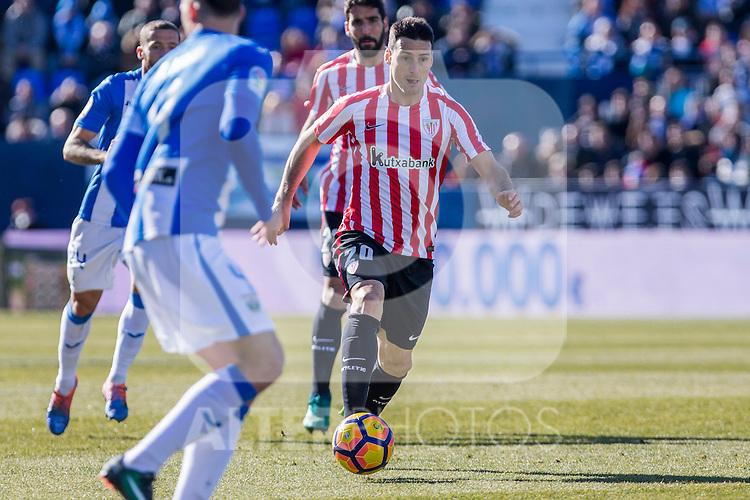 Atletic de Bilbao's Aritz Aduriz  during the match of La Liga between Leganes and Athletic Club at Butarque Stadium  in Madrid , Spain. January  14, 2017. (ALTERPHOTOS/Rodrigo Jimenez)