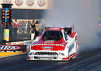 Jul. 25, 2014; Sonoma, CA, USA; NHRA funny car driver Bob Tasca III during qualifying for the Sonoma Nationals at Sonoma Raceway. Mandatory Credit: Mark J. Rebilas-