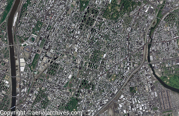 aerial photo map of the Bronx, New York City, New York, 2009.  For a more recent view of this portion of the Bronx, or any other custom view, please contact Aerial Archives.