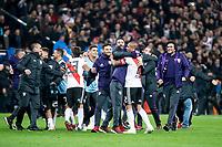 River Plate celebrating a victory during  Commebol Final Match between River Plate and Boca Juniors at Santiago Bernabeu Stadium in Madrid, Spain. December 09, 2018. (ALTERPHOTOS/Borja B.Hojas) /NortePhoto.com