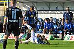 Waldhofs Anton-Leander Donkor (Nr.19) gegen Magdeburgs Ernst Dominik  beim Spiel in der 3. Liga, SV Waldhof Mannheim - 1. FC Magdeburg.<br /> <br /> Foto © PIX-Sportfotos *** Foto ist honorarpflichtig! *** Auf Anfrage in hoeherer Qualitaet/Aufloesung. Belegexemplar erbeten. Veroeffentlichung ausschliesslich fuer journalistisch-publizistische Zwecke. For editorial use only. DFL regulations prohibit any use of photographs as image sequences and/or quasi-video.