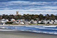 Scenic coastal town of Middletown, Rhode Island, USA.