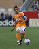 Houston Dynamo defender Wade Barrett (24). The Houston Dynamo defeated the New England Revolution, 2-0, at Gillette Stadium on May 3, 2009.