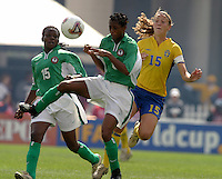 Kikelomo Ajayi(Nigeria) v Anna Sjoestrom(Sweden)2003 WWC Sweden vNigeria