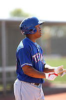 Braxton Lane, Texas Rangers minor league spring training..Photo by:  Bill Mitchell/Four Seam Images.