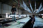 A textile factory in Bangalore. Karnataka, India.
