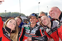 Jason O'Halloran of Honda Racing on the grid for race two of the MCE British Superbikes in Association with Pirelli round 12 2017 - BRANDS HATCH (GP) at Brands Hatch, Longfield, England on 15 October 2017. Photo by Alan  Stanford / PRiME Media Images.