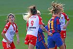 Liga IBERDROLA 2020-2021. Jornada: 10<br /> FC Barcelona vs Santa Teresa: 9-0.<br /> Lidia Sanchez, Belen Martinez & Alexia Putellas.