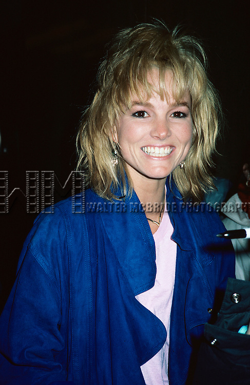 Janet Jones pictured in New York City in 1985.